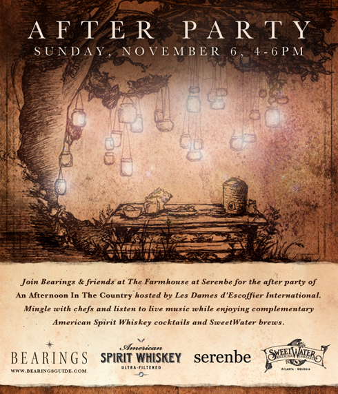 After Party hosted by Bearings, American Spirit Whiskey, Serenbe, and Sweet Water Brewing Co.