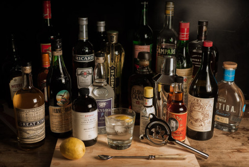 A Well-Stocked Home Bar